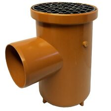 Bottle Gully Roddable Underground Drainage 110mm Single Inlet Grid Cover 8 Pack