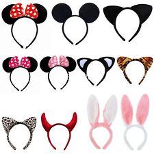 Cute Minnie Mouse Animal Ears Headband Girls Mickey Party Fancy Dress Costume DA