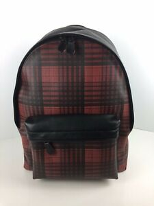 COACH F40726 Charles Laptop Backpack Book Bag Coated Canvas Red Multi NWT