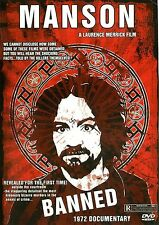 Charles Manson BANNNED 1972 documentary film on DVD Very Rare
