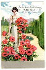 POSTCARD GERMAN 1914 GOPPINGEN HORTICULTURE EXPO GARDENING