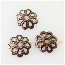 500 New Antiqued Copper Connectors Flower End Bead Caps Charms 7mm