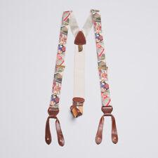 Trafalgar International Hotel Theme Silk Suspenders / Braces