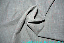 LUXURY SUPER 150's PURE WOOL LIGHT GREY PRINCE OF WALES CHECK MADE IN ITALY SLE1