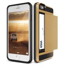 Shockproof Credit Card Pocket Hybrid Hard Wallet Case Back Cover For iPhone 4 4s