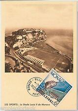 51278  - MONACO -   MAXIMUM CARD - 1952 OLYMPIC GAMES: FOOTBALL / SPORTS STADIUM
