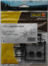 FALLER 180916 Trolleys (2) & Mining Carts (2) (Narrow Gauge) 00/H0 Plastic Kit
