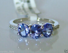 Tanzanite Zircon Oval Fine Rings