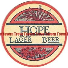 "EARLY Craft Micro 1980s RHODE ISLAND Providence HOPE LAGER BEER 4"" Coaster"