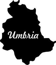 "2x Auto Aufkleber Italien Region "" UMBRIEN "" 11x9 cm Car Sticker"