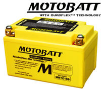 MOTOBATT MBTZ10S AGM UPGRADE BATTERY 20% EXTRA POWER YAMAHA YZF R1 2004 TO 2012
