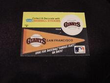 VINTAGE San Francisco Giants 1980's Fleer Pennant Sticker Card, HI GRADE!!