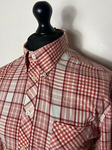 Ben Sherman Red And White Check Size Xl Mod Style
