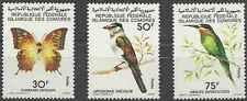 Timbres Animaux Papillons Oiseaux Comores 253/5 ** lot 15974