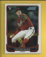 Trevor Bauer RC 2012 Bowman CHROME Rookie Card # 173 Cleveland Indians Baseball