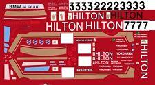 #3 BMW Hilton 1987 1/64th HO Scale Slot Car Decals