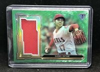 2020 Triple Threads Shohei Ohtani Green Jumbo Relic 14/18 Angels