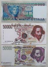 50.000 lire BERNINI 1° E 2° + VOLTO DONNA (3 Pezzi) (COPIE)