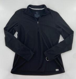 Patagonia Women's Black Capilene 3 Midweight 1/4 Zip Pullover Size Large