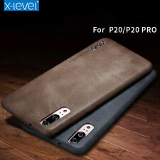 For Huawei P40 Pro P30 Luxury Flexible Retro vintage Leather Back case cover