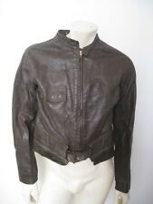 Vintage WWII Brown Goatskin Leather Flight Suit Modified to Jacket