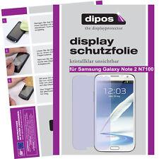 1x Samsung Galaxy Note 2 N7100 Protector de Pantalla transparente