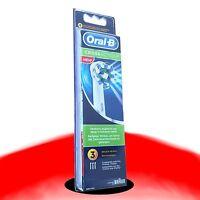 3 Oral B Cross Action Aufsteckbürsten Original OralB Ersatz Bürsten Zahnbürste