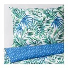 IKEA ROSENPION Bettwäsche-Set 140x200 Bettbezug Kopfkissenbezug grün blau NEU