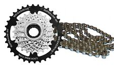 Sunrace 7 Speed Mega-range Freewheel Block and Chain Combo Kit - Ratio 13-34