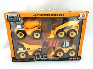 Kids Construction Truck Toy Set | Build Your Own | Pretend Play (TOY124)