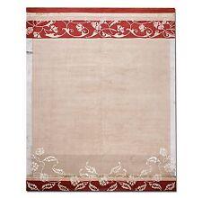 9' x 12' Tibetan Hand Knotted Wool & silk Area Rug Modern 9x12 Beige