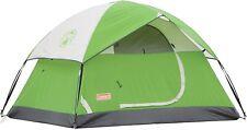 Coleman Sundome Easy Setup 6 Person Camping Tent, Green, Waterproof, Comfortable