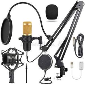 8 Pcs Rap Studio Microphone Kit Better Sound Music Sing Recording Equipment
