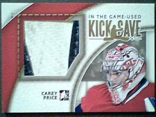 CAREY PRICE  AUTHENTIC 2-COLOR JUMBO PIECE OF A GAME-USED PAD CARD /10  SP