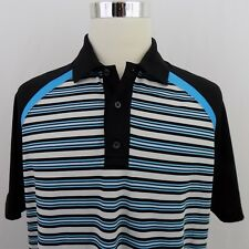 Brooks Brothers 1818 ProSport Men's Large Short Sleeve Striped Golf Polo Shirt