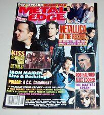 METAL EDGE Magazine Aug 1996 Kiss Reunion Tour Metallica Poster Alice Def Lep