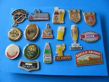 Vintage Collection of Foreign Beer Brewery Beer Badges. Good Condition.
