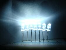 10 Pcs LED 5mm White 20,000-30,000mcd Ultra Bright