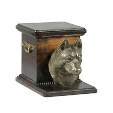 Pet Cremation Urns for Dog's ashes,Dog statue Pet memorial Casket Ash Box