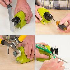 New Electric Ceramic Knife Sharpener Stone Kitchen Sharpening System Grindstone