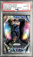 Zion Williamson Rookie 2019-20 Prizm Fireworks PSA 10 Fast Break PELICANS *QTY