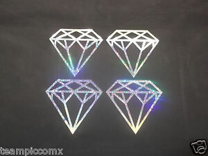 "DIAMOND 4x Glitter Holographic Vinyl  Window car suv Decal Sticker 4"""