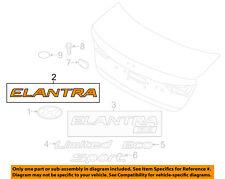 HYUNDAI OEM 17-18 Elantra Trunk Lid-Emblem Badge Nameplate 86315F2000