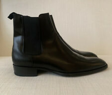 Saint Laurent Wyatt Chelsea Boots Smooth Leather Size 43 Gently Worn