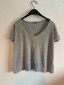 Paint Speckled Effect Monrow Short Cropped Running Top Size XS