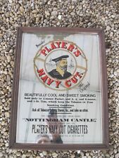 Vintage Player's Navy Cut Cigarettes Tobacco Framed Advertising Mirror Sign