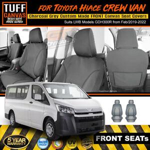 TUFF Canvas TRADE Seat Covers for TOYOTA HIACE VAN LWB +SLWB GDH300R 2/2019-2022