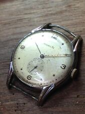 Marvin Watch 565 15j Army Dial WW2 Wehrmachtswerk Caliber 1940s Bubble Spider