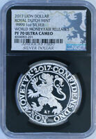 2017 Lion Dollar Royal Dutch Mint .9999 1 Oz Silver / NGC PF70 Ultra Cameo