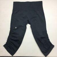 Women's Lululemon Athletica High Compression capri leggings True Navy Size 2-4